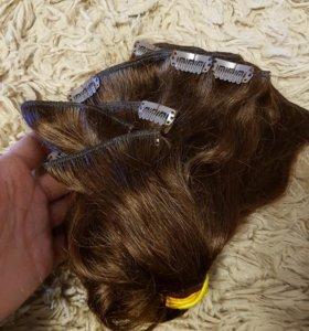 Натуральный волос на заколках