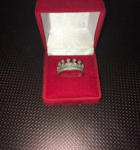 Кольцо женское , серебряное