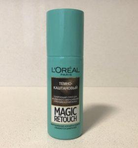 Спрей для волос L'Oréal, тёмно-каштановый, новый