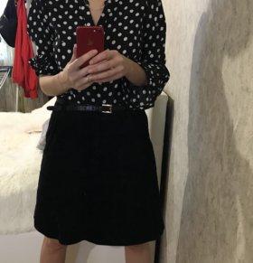 Вельветовая юбка H&M