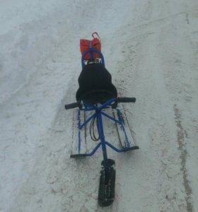 Снегокат с двигателем для детей
