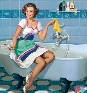 Уборка, мытьё окон, генеральная уборка.