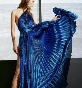 Ткань ,цвет синий металлик