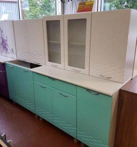 Кухня Волна-2000 (Белый/Бирюза)