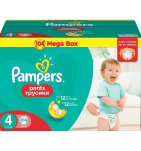 Трусики Pampers mega BOX (9-14 кг) 104 шт (4)