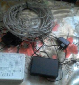 Аппаратура для вай фай и для тв + кабель