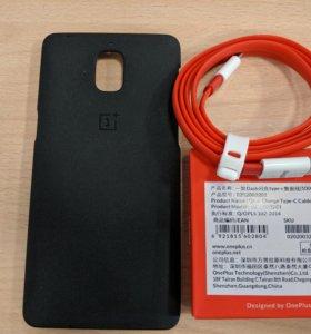Оригинальный чехол и кабель для OnePlus 3/3T