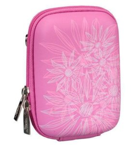 Чехол для фотокамеры, Riva 7023 Pink (flowers)