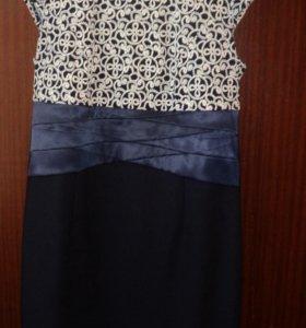 Трикотажное платье с пиджачком