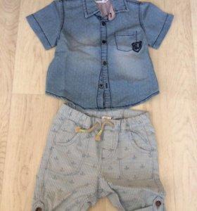 Шорты-брюки и рубашка