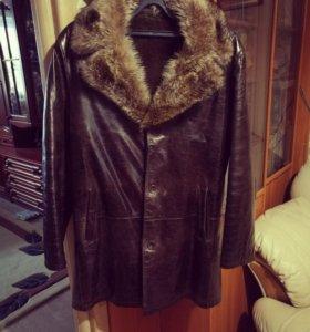 Зимняя кожаная куртка WeW otl