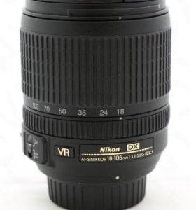 Фотообъектив Nikon18-105mm,f/3.5-5.6G ED VR AF-S D