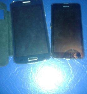 Samsung s4mini . nokia lymia 530