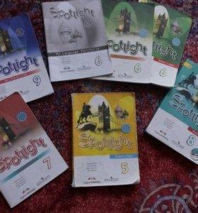 Учебник и тетради английского