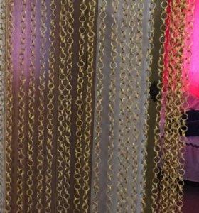 Занавеска на проход плетёные колечки