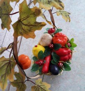 Осенняя композиция в корзинке