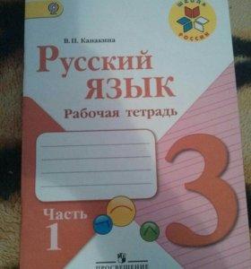 Тетради русский язык и занимательная математика.