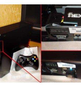 Xbox 360 + x360key 250gb  скачены fifa 16/17/18