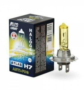 Галогенная лампа AVS ATLAS ANTI-FOG / BOX H7