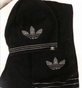 Шапка+шарф adidas оригинал
