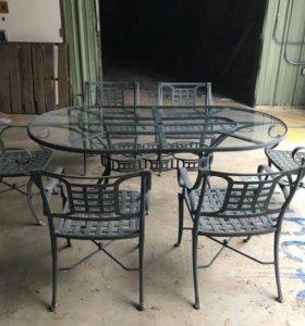 Комплект мебели из литого алюминия для террас