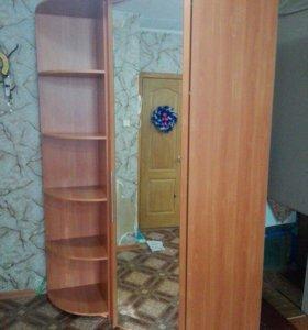 Шкаф угловой + угловая стойка с полками