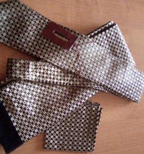 100% шелк и шерсть - кашне, галстук, платок .