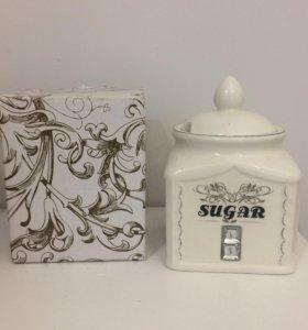 Сахарница новая в подарочной упаковке