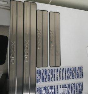 Новые декоративные накладки порогов Volvo XC60