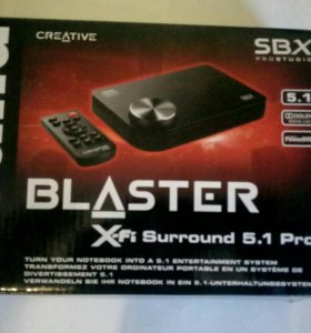 Звуковая карта Sound Blaster x-fi Surround