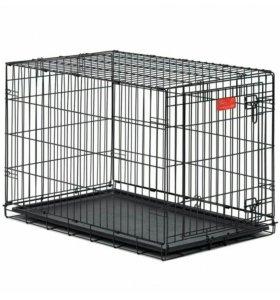 Клетка для кошек и щенков 56х33х41см с 1 дверью