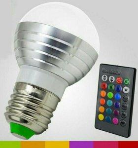 Лампа RGB с пультом. Цвета