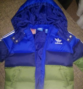 Куртка пуховик фирменный Adidas оригинал 86