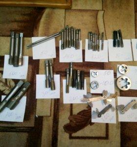 Метчики, плашки, измеритель резьбы