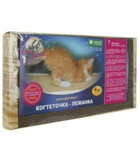 Картонная когтеточка-лежанка для кошек 50х24см