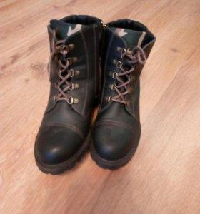 Ботинки кожаные женские/детские/унисекс новые зима
