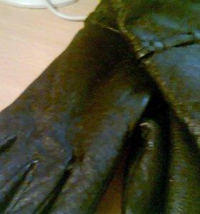 перчатки женские кожаные