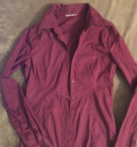 Бардовая рубашка