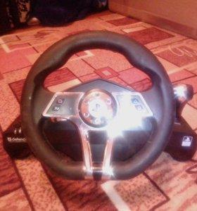 Игровой руль подойдёт как к PS3 так и к PS4