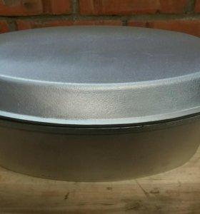 Гусятница алюминиевая с крышкой