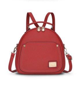 Стильный красный рюкзак/сумка