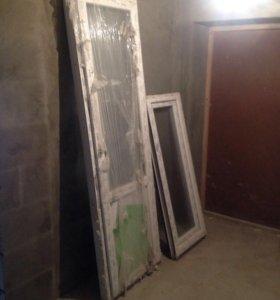 Продам пластиковую балконную дверь!