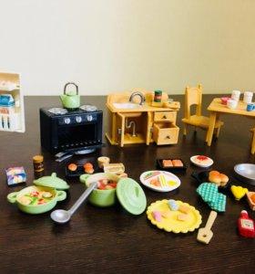 Sylvanian Families кухня+посудка