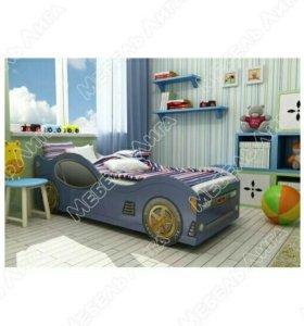 Детская кровать-машинка Ягуар новая