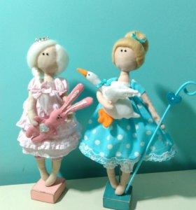 Текстильная кукла в стиле Тильда