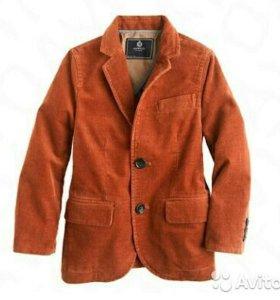 Пиджак рыжий, на 2г, рост 92см
