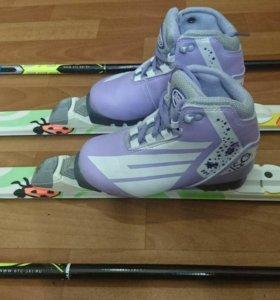 Комплект беговых лыж - 1500 руб