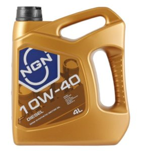Масло полусинтетическое NGN 10W-40 DIESEL CF/SL 4л