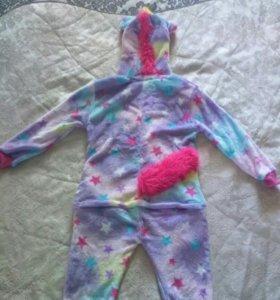 """Детская пижама кигуруми """"радужный единорог"""""""