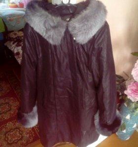 Зимний плащ на кроличьем меху до -36 С°